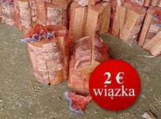 Brezové dekoratívne palivové drevo štiepané, balené